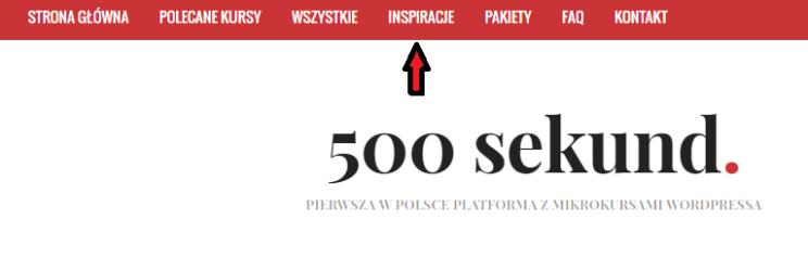 Inspiracje - 500 sekund